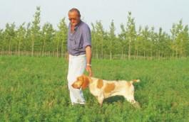 Bottani Luigino (papà di Tullio) con Malvasia di V. Carla.