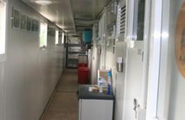 Area servizio interna con impianto di climatizzazione
